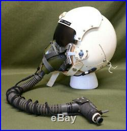 USAF Vietnam Korean War Era Fighter Pilot Helmet With Headset + Mic Oxygen Mask
