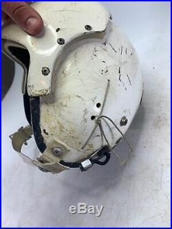 USAF Vintage Vietnam Korean War Era 1969 Fighter Pilot Helmet Bullet Hole