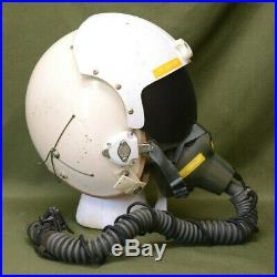 USAF Vintage Vietnam Korean War Era 1969 Fighter Pilot Helmet + Mic Oxygen Mask