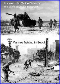 USMC valor medal group Korean War with named GCM Inchon Invasion, Chosin Reservo
