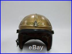 USN Navy H3 Gentexite Pilot Flight Helmet, Korean War SIZE LARGE EXC