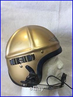 USN Navy H3 Gentexite Pilot Flight Helmet, Korean War Size Medium
