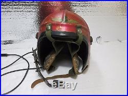 USN Navy H4 Gentexite Pilot Flight Helmet, Korean War Size Medium