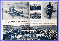 Uss New Jersey Bb-62 1950-1951 Recommissioning Korean War Cruise Book