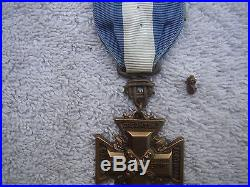 Udc Korean War Service Medal + Sea Horse United Daughters Of The Confederacy