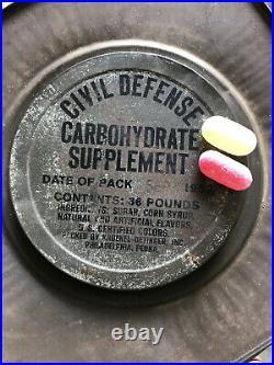 Us CIVIL Defense Ration Korean War Era Carbohydrate Supplement 1953 Rare