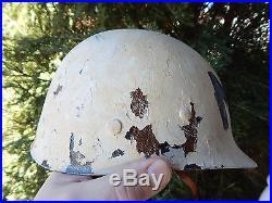 Us Mp Korean War Helmet Rear Seam Swivel Bale Wwii Mine Safety Appliances Liner