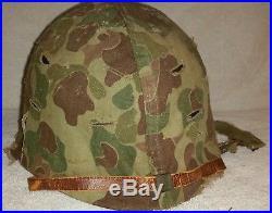 Usmc Wwii Korean War M1 Helmet Set (complete) Fs, Sb, Imp Liner, 1953 Camo Cov