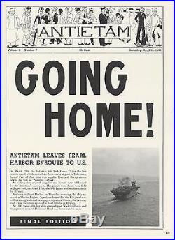 Uss Antietam Cv-36 Korean War Deployment Cruise Book Year Log 1951-52 Navy