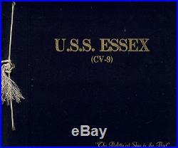 Uss Essex Cv-9 Korean War Deployment Cruise Book Year Log 1950-51 Navy
