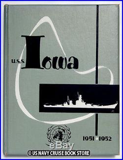 Uss Iowa Bb-61 1951-1952 Korean War Cruise Book