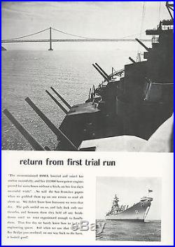Uss Iowa Bb-61 Korean War Deployment Cruise Book Year Log 1951-52 Navy