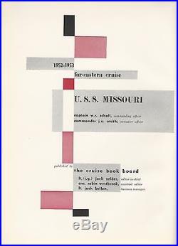 Uss Missouri Bb-63 Korean War Deployment Cruise Book Year Log 1952-53