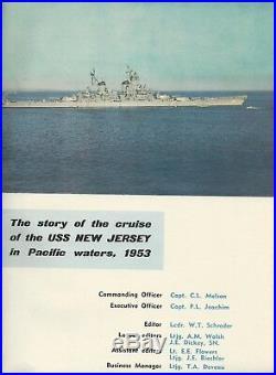 Uss New Jersey Bb-62 Korean War Deployment Cruise Book Year Log 1953 Navy