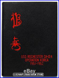 Uss Rochester Ca-124 1951-1952 Korean War Cruise Book