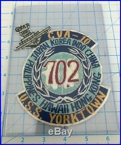Uss Yorktown Cva-10 Far East Cruise Patch Post Korean War Task Force 77 Tf
