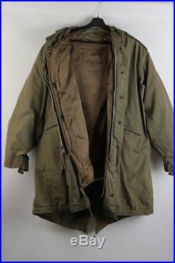VINTAGE 1950's Korean War US Parka-Shell M-1951 with Original Fur Liner & Hood