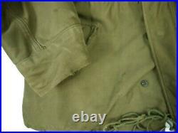VINTAGE 50s M-51 FIELD JACKET MILITARY KOREAN WAR M-1951 1952 LINER HOOD M