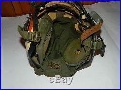 Vintage Gentex H-4 Korean War Era Us Navy Fighter Pilot Helmet Mic, Bag, Medium