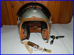 Vintage Gentex P4-a Korean War Era Us Navy Fighter Pilot Helmet With Visor Small