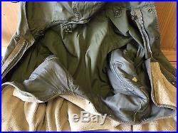 VINTAGE KOREAN WAR ERA M-1951 M51 HOODED PARKA with LINER FISHTAIL LARGE