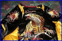 Vintage Korean War Youth Reversible Silk Embroidered Jacket