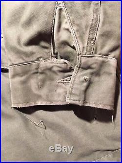 VINTAGE M-1951 US MARINES MILITARY FIELD JACKET KOREAN WAR With PATCH NICE