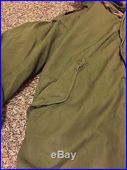 VINTAGE US Army Korean War Military M 1951 Fishtail Parka Shell Coat Jacket Med