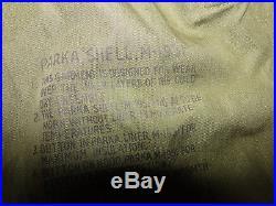 VINTAGE US M51 KOREAN WAR FISHTAIL PARKA Desert Jacket Mod 1951 Sz S
