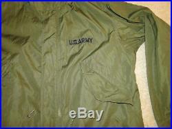 VINTAGE US M51 KOREAN WAR FISHTAIL PARKA Desert Jacket Mod 1951 Sz small