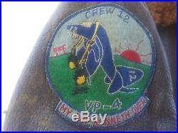 VINTAGE sz 42 USN Korean War Era Leather Flying Jacket G1 EXTREMLY RARE PATCHES