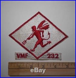 VMF-232 / vintage USMC squadron patch / 1950's Korean War era US Marine Corps