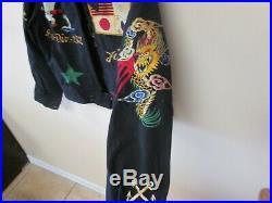 VTG. 1950's Japanese Sawa Korean War Era Navy Jacket Awesome Patches, Embroidered