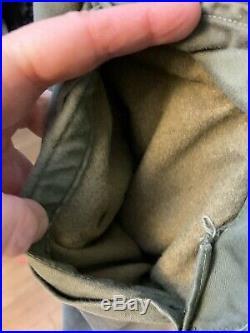 VTG 1951 Korean War U. S. Army Hooded Overcoat Parka Jacket 1950's