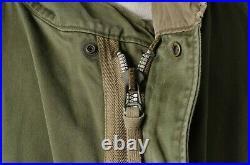 VTG 50'S KOREAN WAR US Army M-1951 M51 Fishtail Parka Jacket Talon Zipper