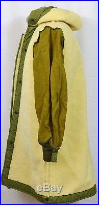 VTG 50's Korean War Arctic Parka Jacket Removable Sherpa Lining Coat Military