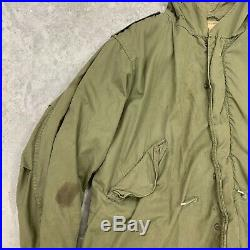 VTG 50s M-1951 Fishtail Parka with Frieze Liner Dated 1952 Size MEDIUM Korean War