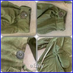 VTG 50s M-1951 Military Parka Shell LARGE Hood US ARMY FISHTAIL Korean War Coat