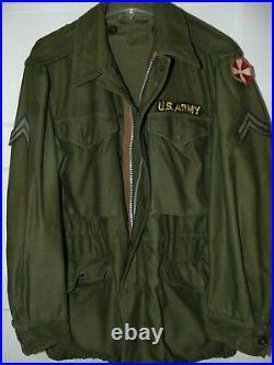 VTG ARMY M-1951 Field Jacket 1952 Cohen Fein Battle Worn Patches Korean War Xtra