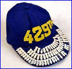 VTG Korean War USAF 429th Fighter Bomber Squadron Felt Crew Cap 74 Mission Named