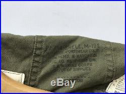 VTG M-1951 Parka Shell Fishtail Jacket Korean War Size Small U. S. Marine Corps