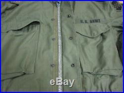 VTG MEDIUM REGULAR KOREAN WAR ERA M1951 OG-107 FIELD JACKET WithPATCHES AND LINER