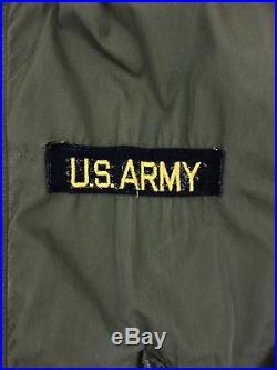 VTG US Army M-1951 Fishtail Parka Medium Dated 1953 Korean War Phila QM Depot