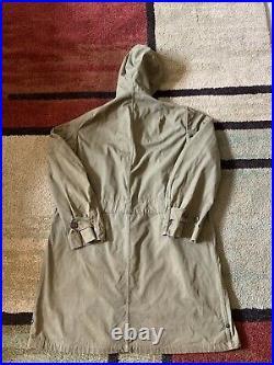 VTG US Army Men M Parka Field Jacket Liner M-51 Korean War WWII 40s 50s