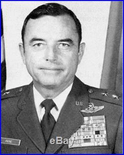VTG USAF Named Korean War Vietnam Major General Uniform Officer Dress Visor Hat