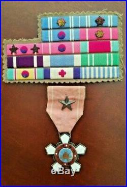 Very Rare Korean War Order of Military Merit 4th Class Hwarang, Silver No. 56638