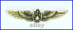 Very Rare early 1950's U. S Naval Flight Surgeon Badge/Wings Korean War GEMSCO PB