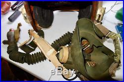 Vietnam Korean War Era Jet Fighter Pilot Helmet With Oxygen Mask