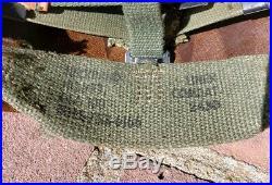 Vietnam Korean War M1 M2 Helmet Liner 372nd MP Military Police FIRESTONE NAMED
