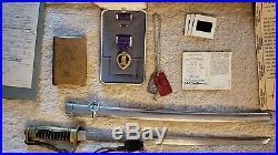 Vietnam Korean War Memorabilia Lot Purple Heart Dog Tags Bible Sword Army Jacket